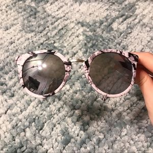 Marble and Metal Sunglasses